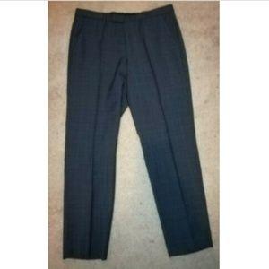 Hugo Boss Sharp1 32x30 Windowpane Plaid Wool Pants